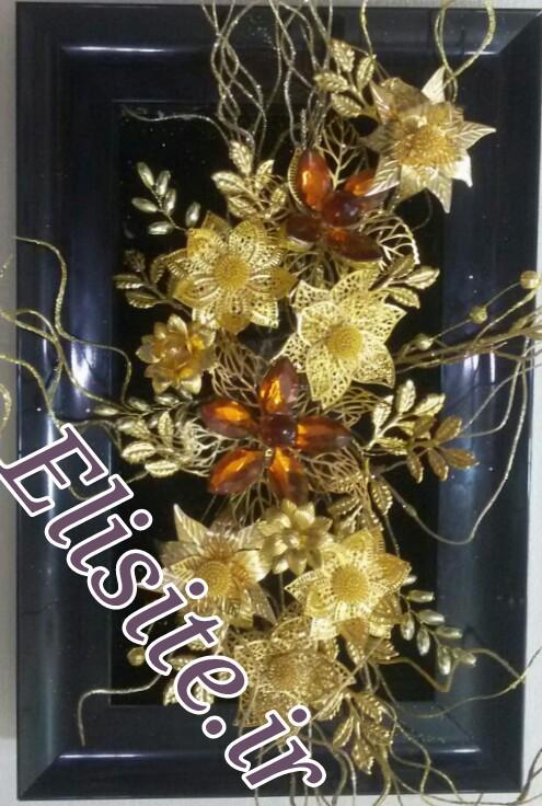 قاب گل فلزی
